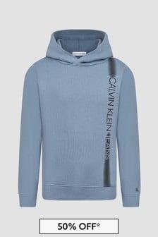 Calvin Klein Jeans Boys Blue Hoodie