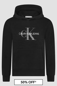 Calvin Klein Jeans Girls Black Hoodie