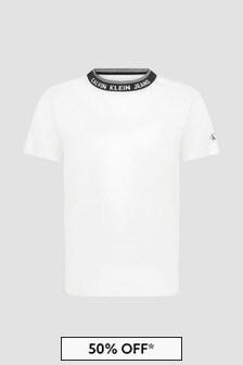 Calvin Klein Jeans Boys White T-Shirt