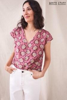 White Stuff Purple Rae Organic Cotton Vest