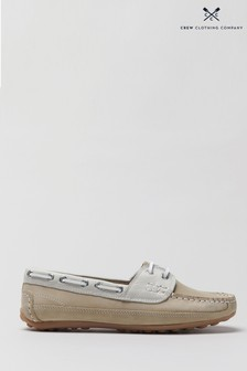 Crew Clothing Company Neutral Slip-On Deck Shoes