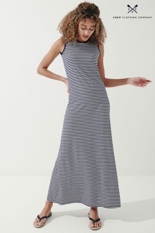 Crew Clothing Company Navy/White Janey Stripe Maxi Dress