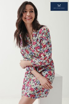 Crew Clothing Company Watercolour Floral Linen Tunic