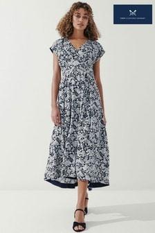 Crew Clothing Company Nvywhtflr Floral Midi Dress