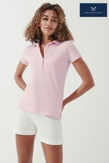 Crew Clothing Company Pink Ocean Classic Polo Shirt