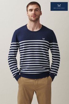 Crew Clothing Company Nvywht Breton Stripe Nautical Jumper