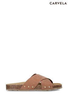 Carvela Comfort Natural Sooty Flat Sandals