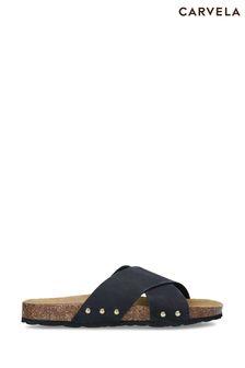 Carvela Comfort Black Sooty Flat Sandals