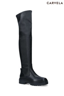 Carvela Black Sincere Thigh High Boots