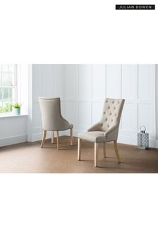 Set Of 2 Loire Button back Chairs By Julian Bowen