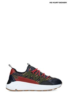 Kurt Geiger Mens Green Vegan Loaded Hiker Trainers