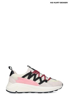 Kurt Geiger Mens Pink Vegan Loaded Hiker Trainers
