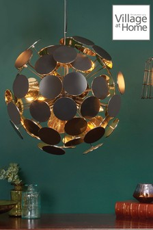 Village At Home Gold Peony Ceiling Light