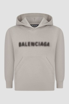 Balenciaga Kids Unisex Grey Hoodie