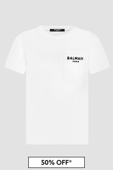 Balmain Boys White T-Shirt