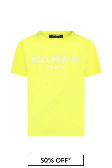 Balmain Boys Yellow T-Shirt