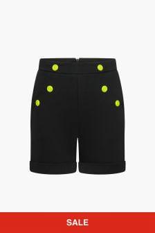 Balmain Girls Black Shorts