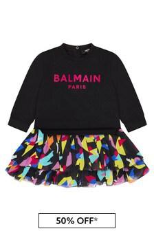 Balmain Baby Girls Black Dress
