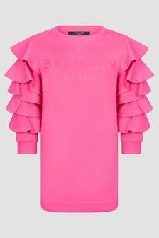 Balmain Girls Pink Dress