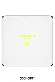 Balmain Baby White Blanket