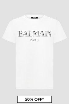 Balmain Kids White T-Shirt
