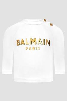 Balmain Baby White T-Shirt