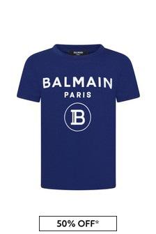 Balmain Boys Blue T-Shirt