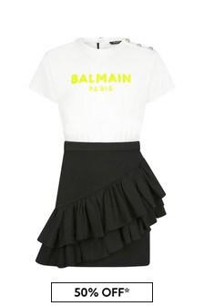 Balmain Girls White Dress