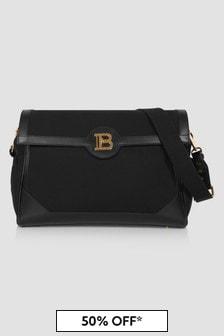 Balmain Baby Girls Black Changing Bag