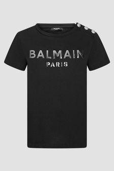 Balmain Kids Black T-Shirt