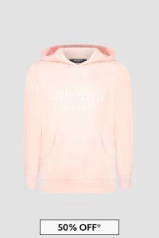 Balmain Girls Pink Hoodie