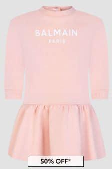 Balmain Baby Girls Pink Dress