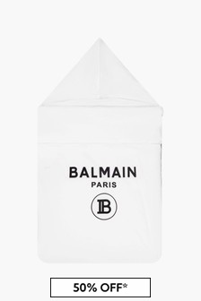 Balmain Baby White Sleepbag