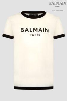 Balmain Boys Beige T-Shirt