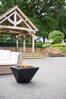 Ivyline Outdoor Metal Industrial Firebowl