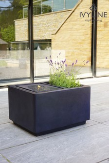 Ivyline Outdoor LED Water Feature with Planter