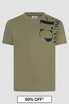CP Company Boys Green T-Shirt