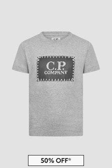 CP Company Boys Grey T-Shirt