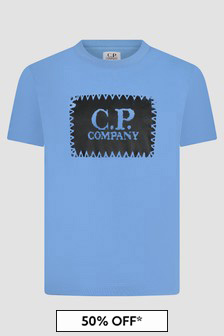 CP Company Boys Blue T-Shirt