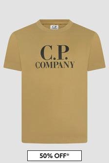 CP Company Boys Khaki T-Shirt