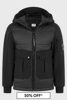 CP Company Boys Black Jacket
