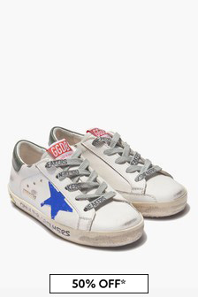 Golden Goose Kids Boys White Trainers