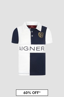 Aigner Boys White Polo Shirt