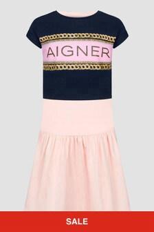 Aigner Girls Pink Dress
