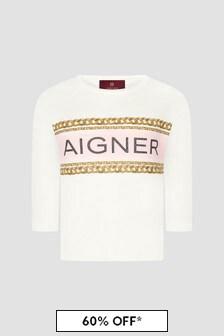 Aigner Girls White T-Shirt