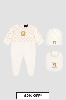 Aigner Baby White Sleepsuit Gift Set