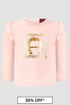 Aigner Baby Girls Pink T-Shirt