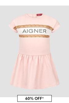 Aigner Baby Girls Pink Dress