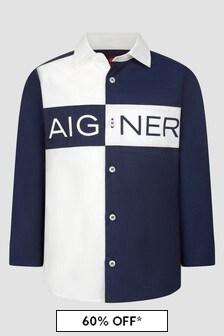 Aigner Boys Blue Shirt