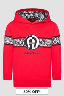 Aigner Boys Red Hoodie